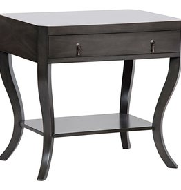 Noir Weldon Side Table 30 x 20x 28H