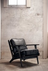 Four Hands Brooks Lounge Chair Ebony