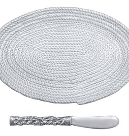 Mariposa Rope Ceramic Oval Plate/Spreader