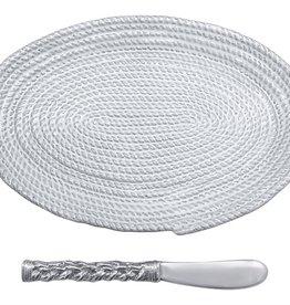 Mariposa Rope Ceramic Oval Plate/Spreader