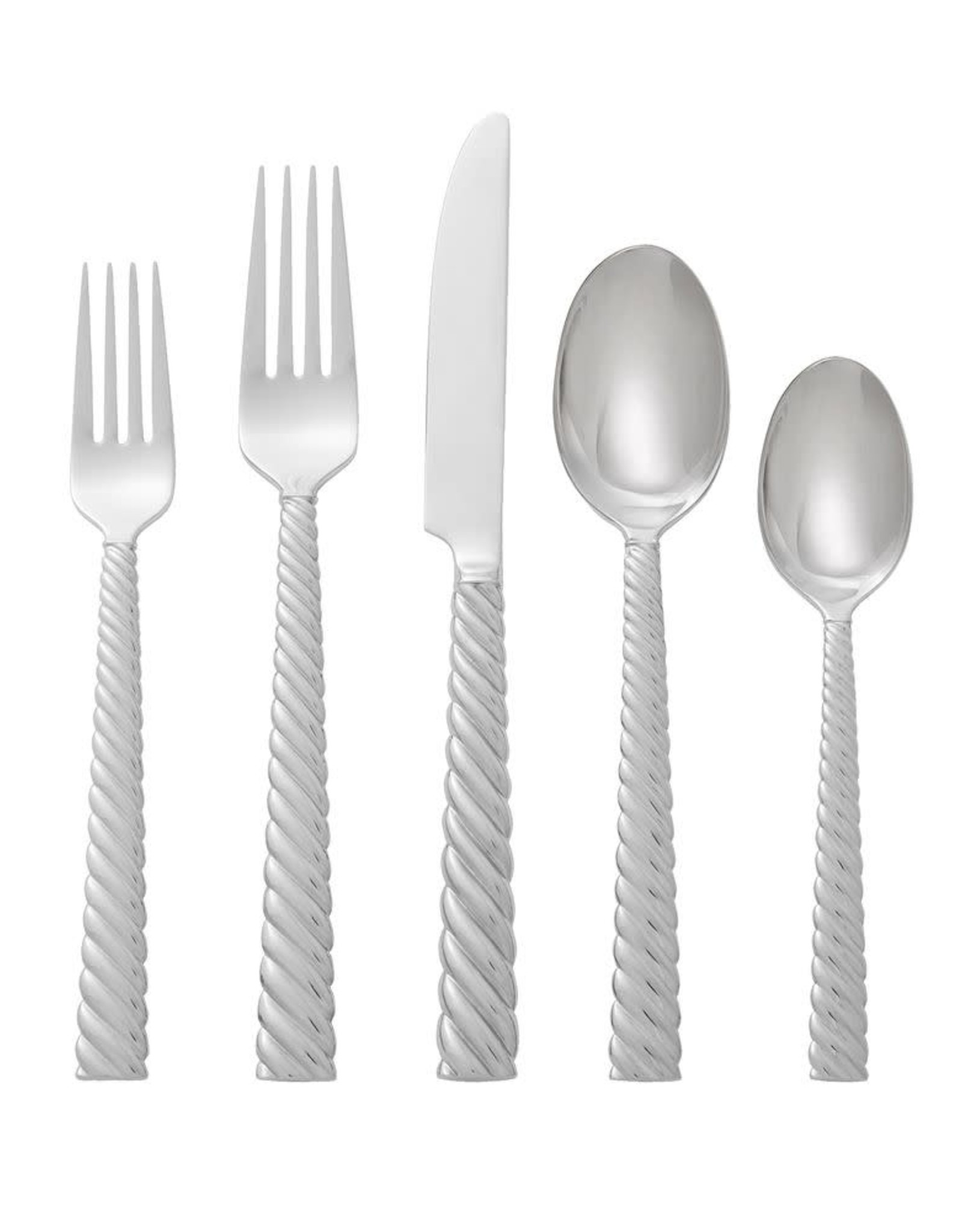 Michael Aram Twist 5 Pcs Flatware Set Silver
