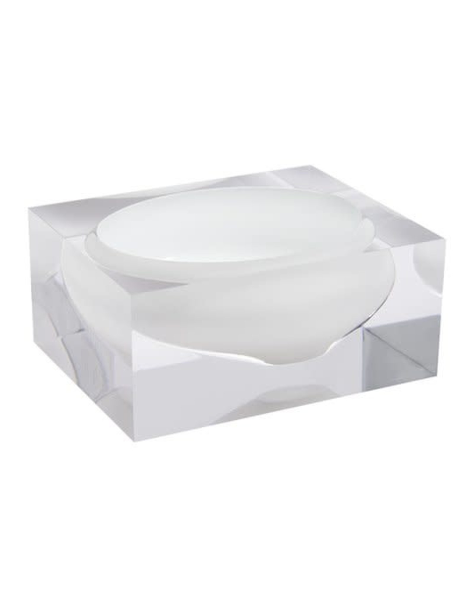 JR William Acrylic Block Bowl White by JR Williams
