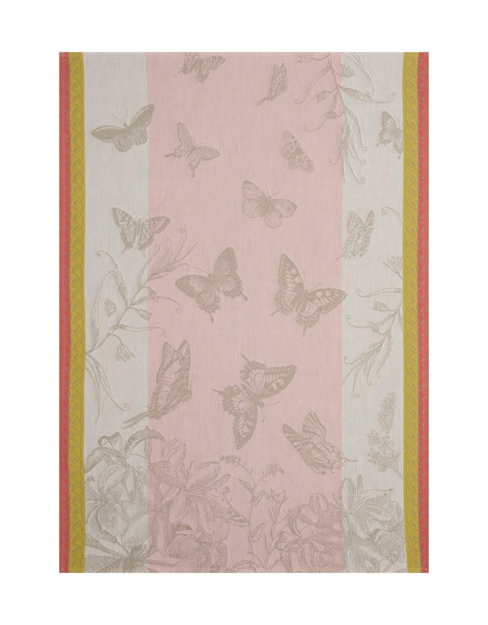 Le Jacquard Francais Jardin des Papillons Magnolia Tea Towel