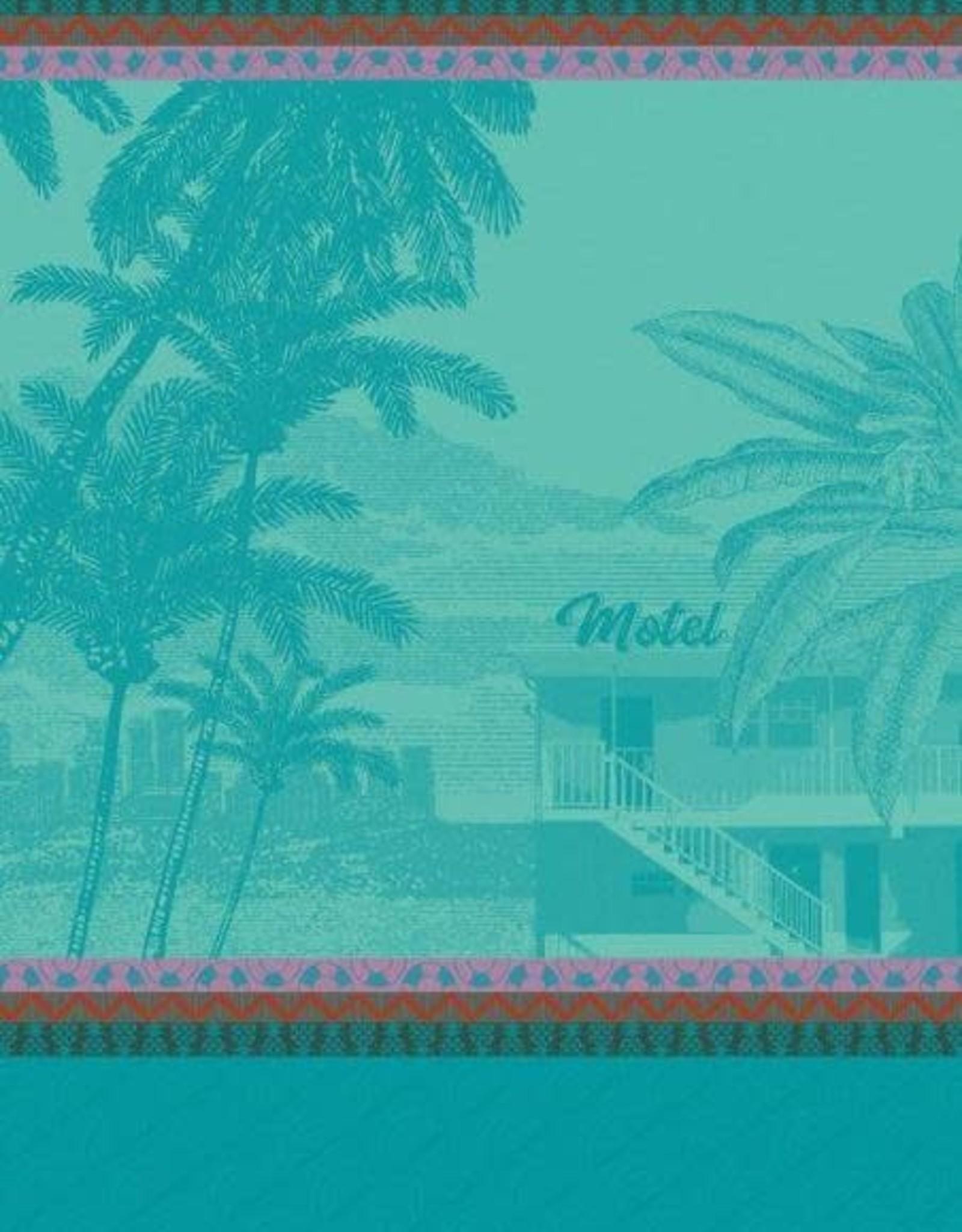 Le Jacquard Francais Voyage en Californie Swimming Pool Tea Towel