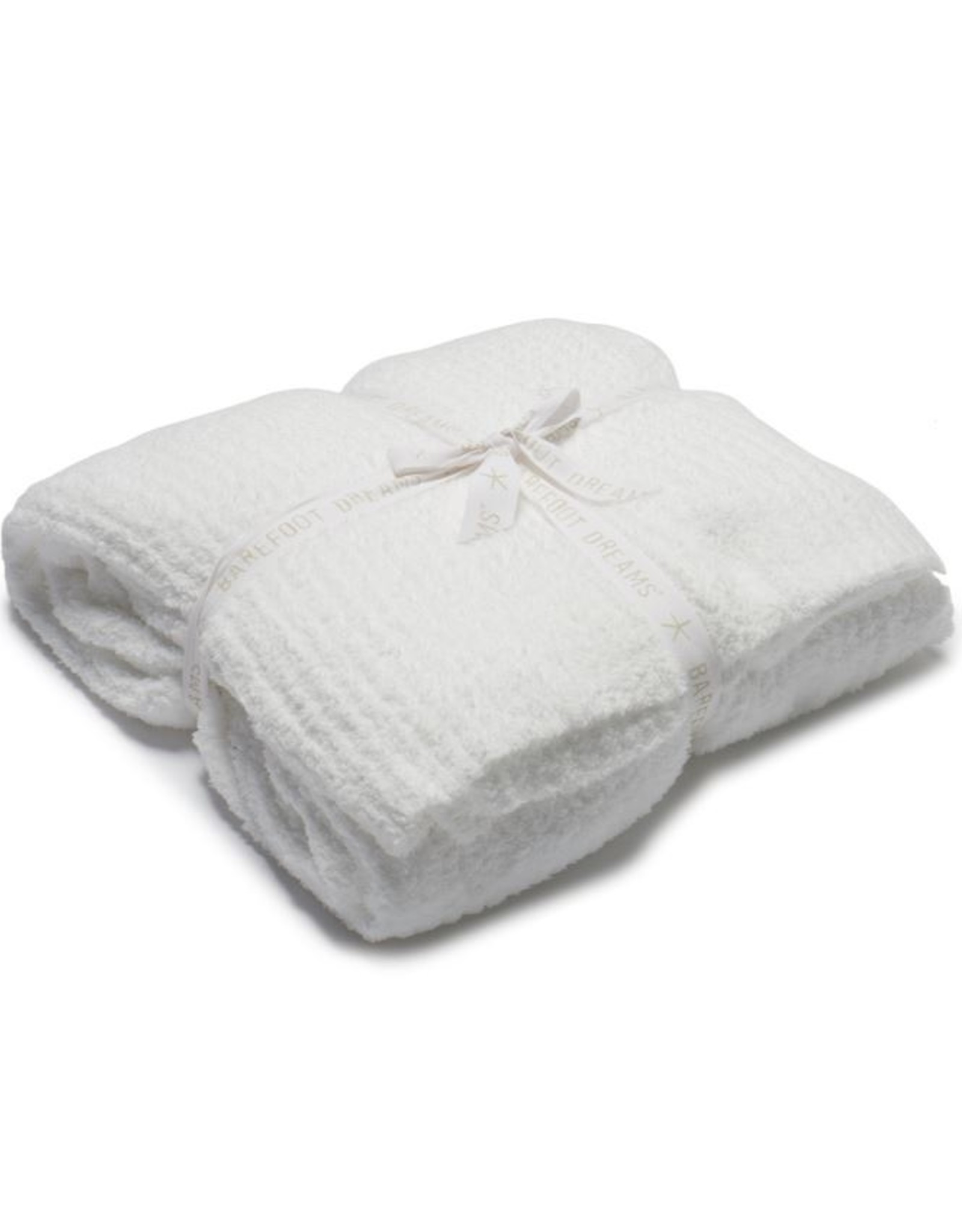 Barefoot Dreams CC Ribbed Bed Blanket White Full/Queen