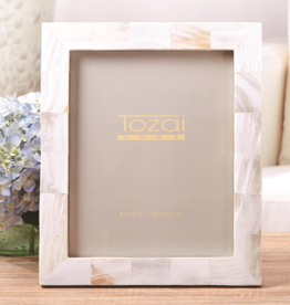 Two's Company Pearly White 8x10 MOP frame