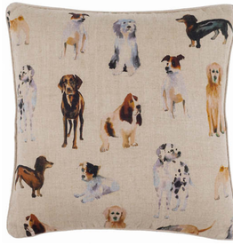 "Pine Cone Hill Woof Linen Decorative Pillow 20"" Square"