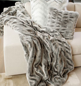 Fabulous Furs Couture Throw Glacier Grey 60x72