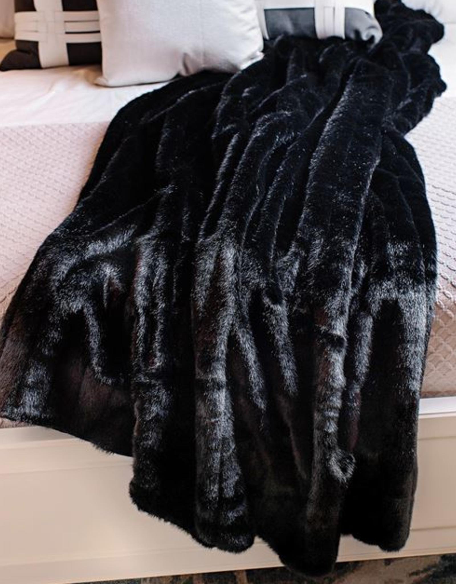 Fabulous Furs Throw Black Mink 60x72 Signature Series