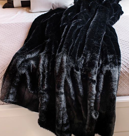 Fabulous Furs Throw Black Mink 60x72 Signature Series