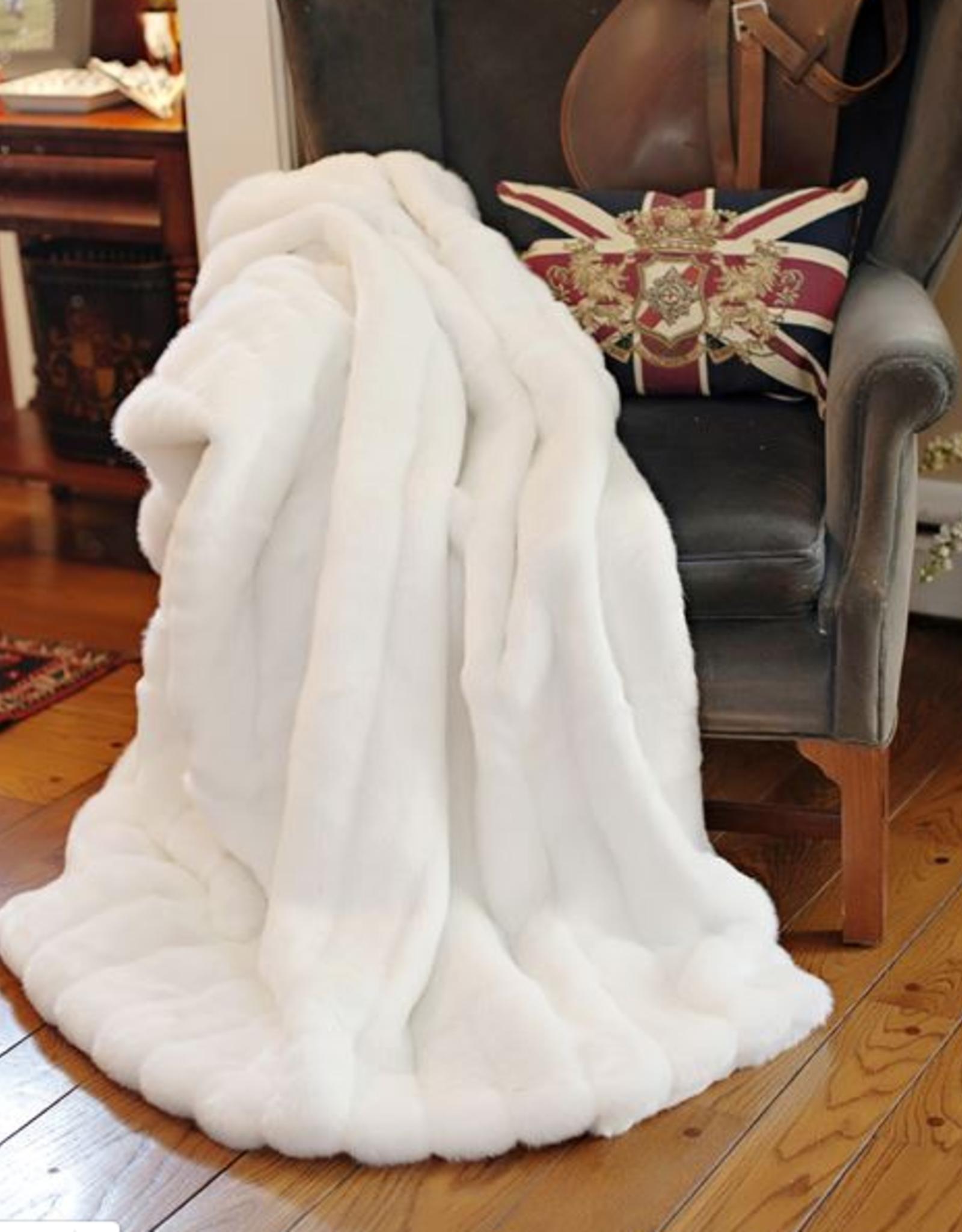 Fabulous Furs Throw White Mink 60x72 Signature Series