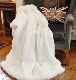 Fabulous Furs Throw White Mink 60x72 Signature Series