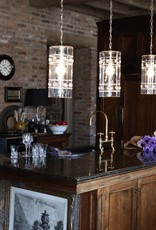 Juliska Isabella Column Pendant in Nickel