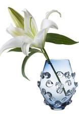 """Juliska Florence Blue 6"""" glass vase"""