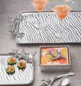 Mariposa Ripple Coral Rect Platter