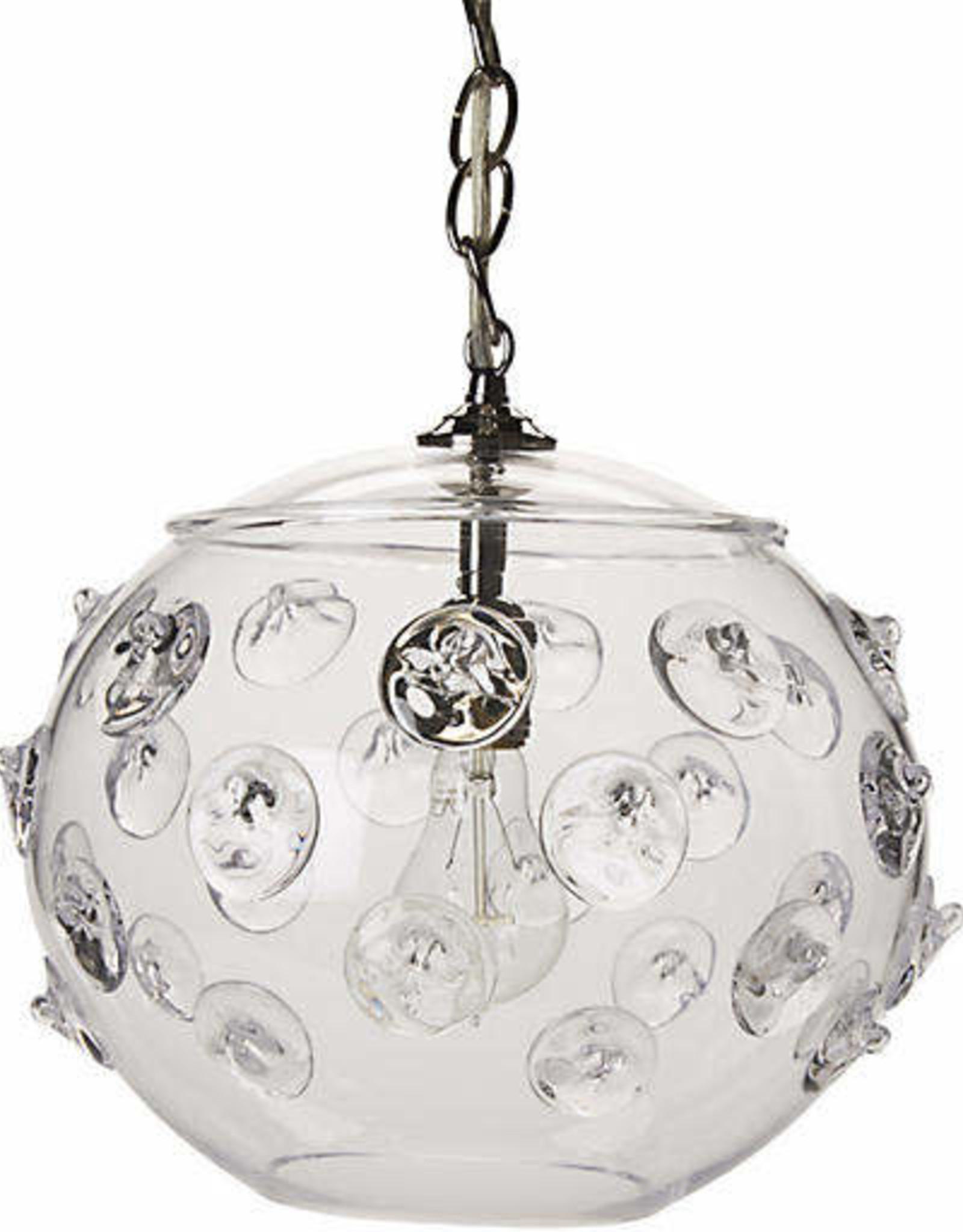 "Juliska Florence Globe Pendant Nickel 13""x10"""