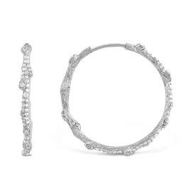 Michael Aram Enchanted Forest Hoop Earrings w/ Diamonds
