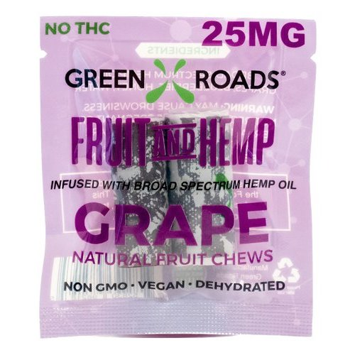 GREEN ROADS Green Roads Fruit & Hemp Edibles, Grape