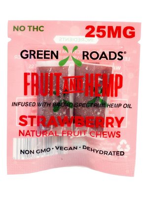 GREEN ROADS Green Roads Fruit & Hemp Edibles, Strawberry