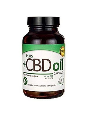PLUS CBD PlusCBD Green Formula Capsules 15mg, 60ct