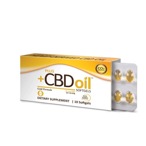 PLUS CBD PlusCBD Gold Formula Softgels, 15mg, 10sg
