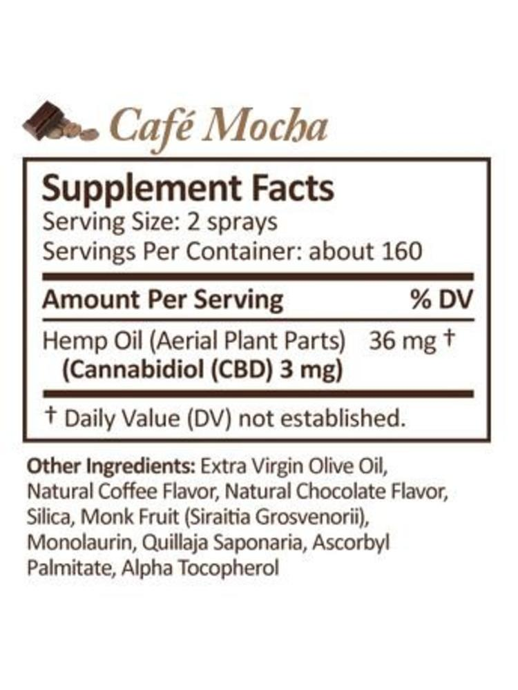 PLUS CBD PlusCBD Spray, Extra Strength, Cafe Mocha, 2oz