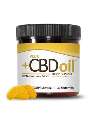 PLUS CBD PlusCBD Gummies, Citrus Punch, 30ct