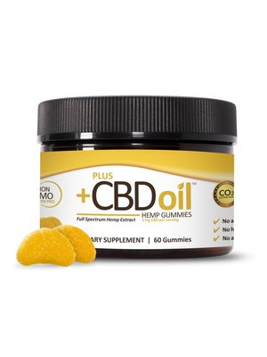 PLUS CBD PlusCBD Gummies, Citrus Punch, 60ct