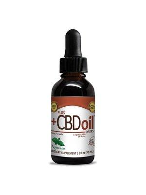 PLUS CBD PlusCBD RAW Drops, Peppermint, 1oz