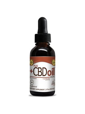 PLUS CBD PlusCBD RAW Drops, Unflavored, 1oz