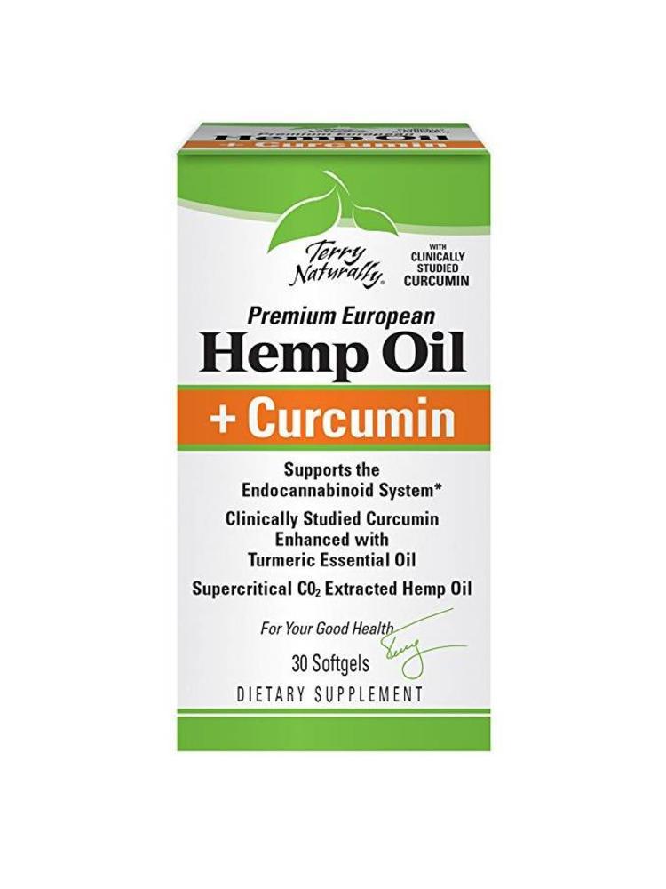 TERRY NATURALLY Terry Naturally Hemp Oil + Curcumin Capsules, 30ct