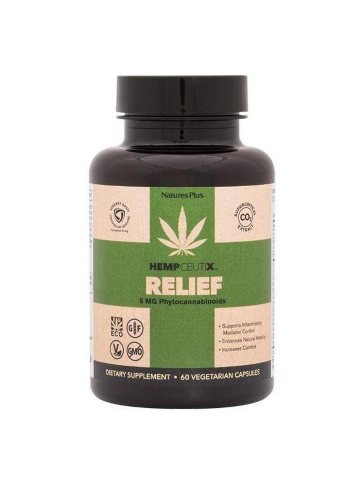 NATURE'S PLUS Nature's Plus Hempceutix Capsules, Relief, 60vc