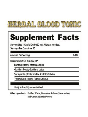 DR. TATES HERBAL TINCTURES & TONICS Dr. Tates Blood Tonic
