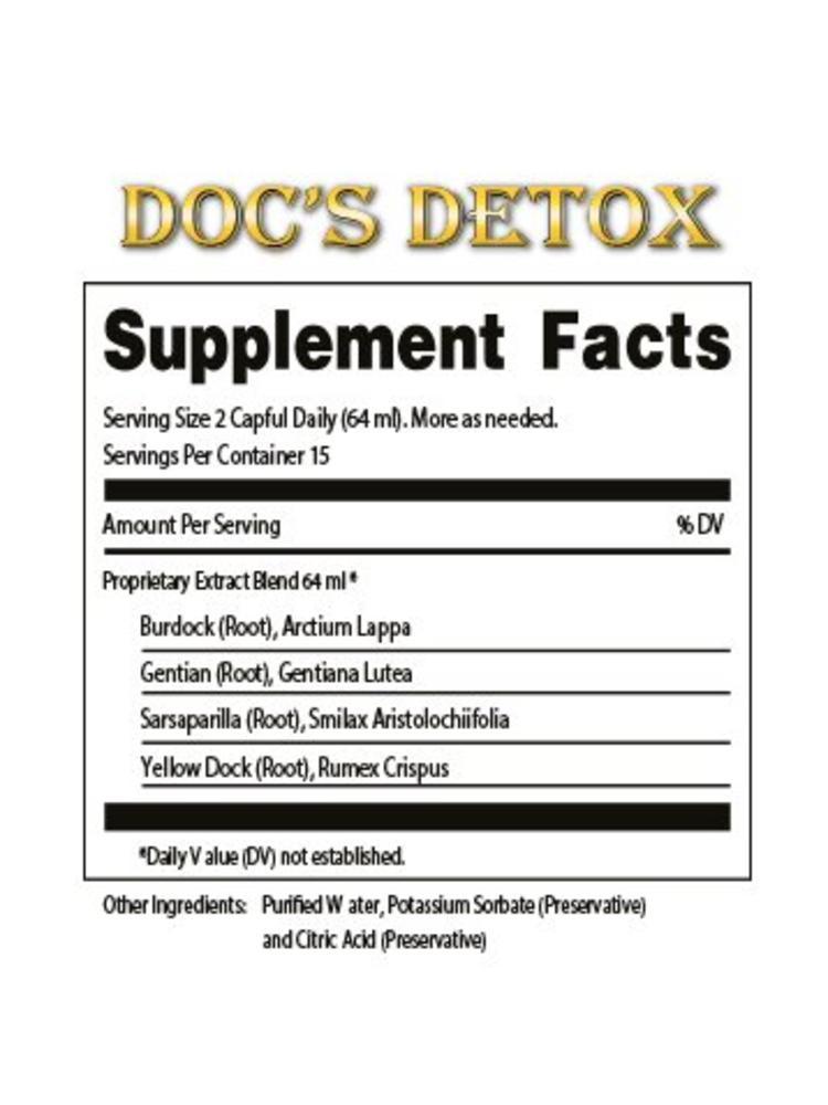 DR. TATES HERBAL TINCTURES & TONICS Dr. Tates Doc's Detox