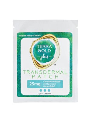 TERRA GOLD Terra Gold Transdermal Patch, 25mg