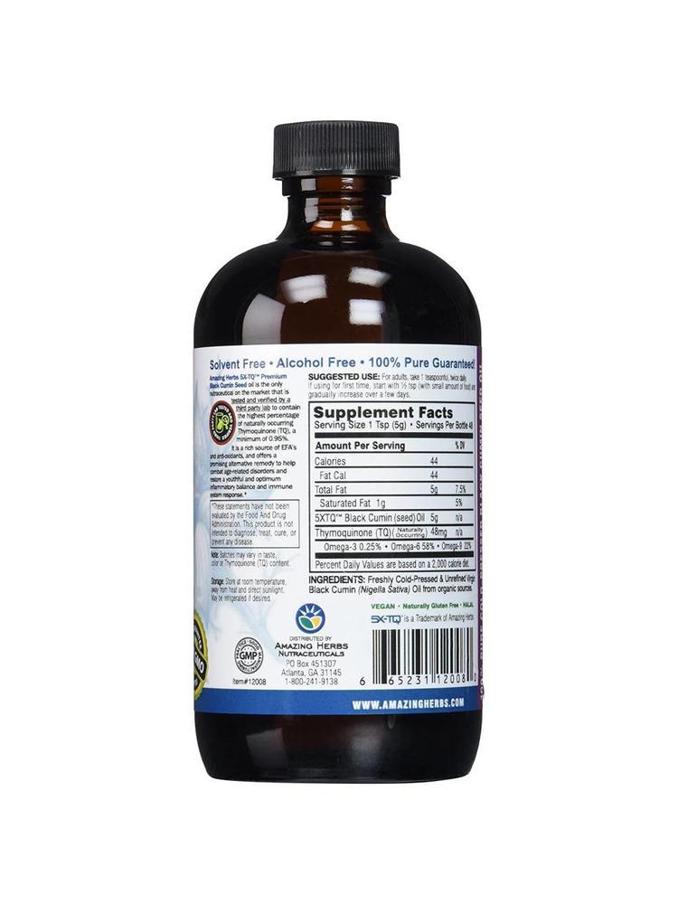 AMAZING HERBS Amazing Herbs Premium Black Seed Oil, 8oz.
