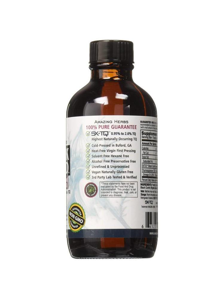 AMAZING HERBS Amazing Herbs Premium Black Seed Oil, 4oz.