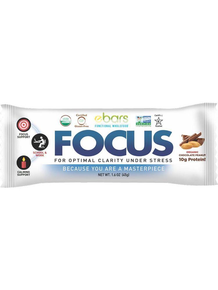 ebars FOCUS Bar, Choc Peanut, Organic, 1.8oz.