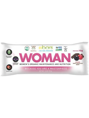 ebars WOMAN Bar, Dk Choc Berry, Organic, 1.8oz.