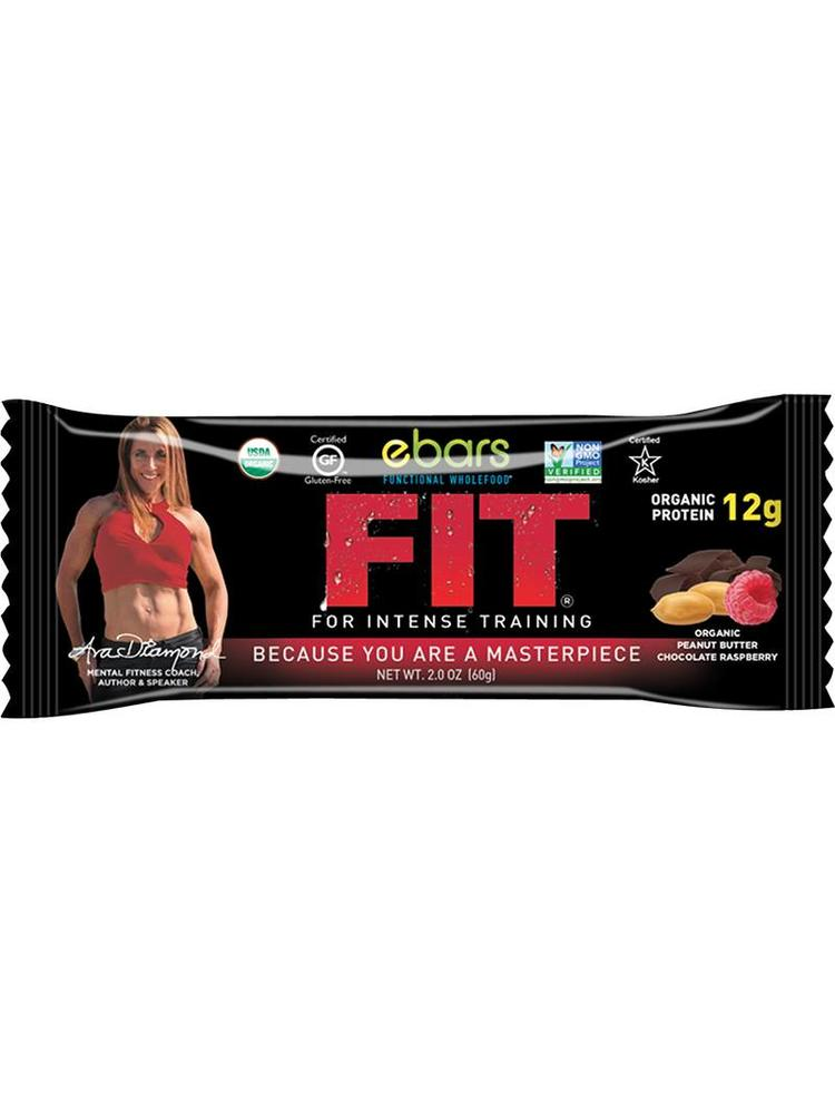 ebars FIT Bar, PB Choc Raspberry, Organic, 1.8oz.