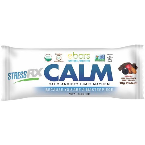 ebars CALM Bar, Dk Choc Berry, Organic, 1.6oz.