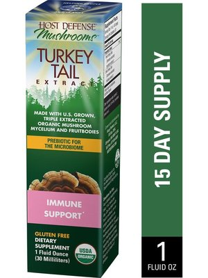 HOST DEFENSE Host Defense Turkey Tail Extract, 1oz.