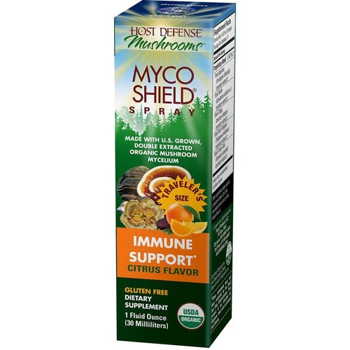 HOST DEFENSE Host Defense MycoShield Immune Support, Citrus, 1oz.