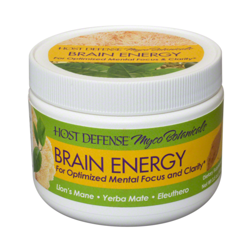 HOST DEFENSE Host Defense Mycobotanicals Brain Energy Powder, 3.5oz.