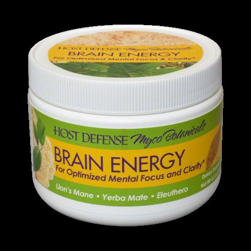 HOST DEFENSE Host Defense Mycobotanicals Brain Energy Powder, 3.5oz.