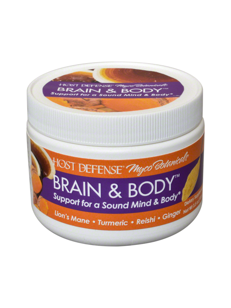 HOST DEFENSE Host Defense Mycobotanicals Brain & Body Powder, 3.5oz.