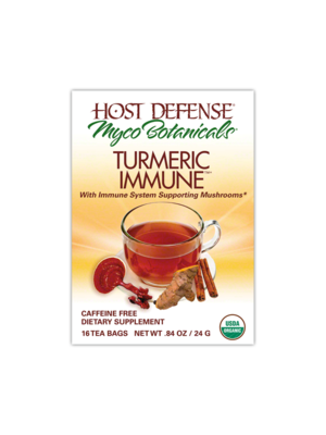 HOST DEFENSE Host Defense Myco Botanicals Turmeric Immune Tea, Organic, 16bgs