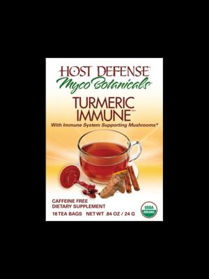 HOST DEFENSE Host Defense Myco Botanicals Turmeric Immune Tea, Organic, 16bgs