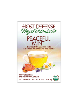 HOST DEFENSE Host Defense Myco Botanicals Peaceful Mint Tea, Organic, 16bgs