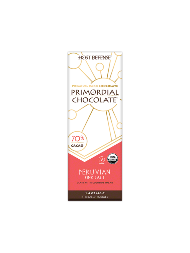 HOST DEFENSE Host Defense Mushroom Primordial Chocolate Bar, Pink Salt